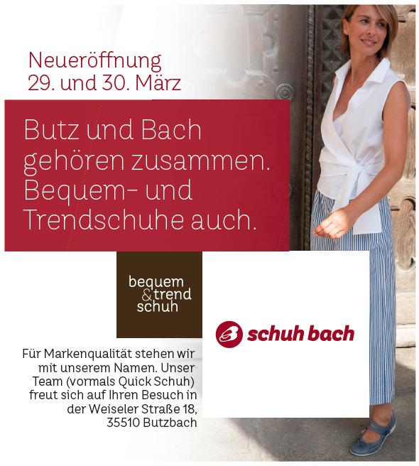 d5237f87cc33db Neueröffnung schuh bach in Butzbach