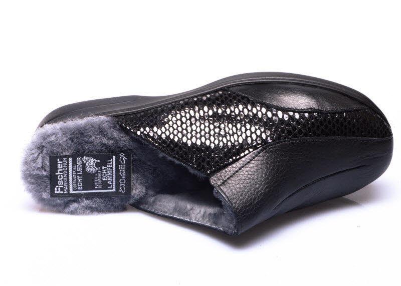 Damen Pantoffel Echt Lammfell - Schuh mobil
